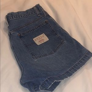 Vintage Guess Jean High Waisted Shorts size 30